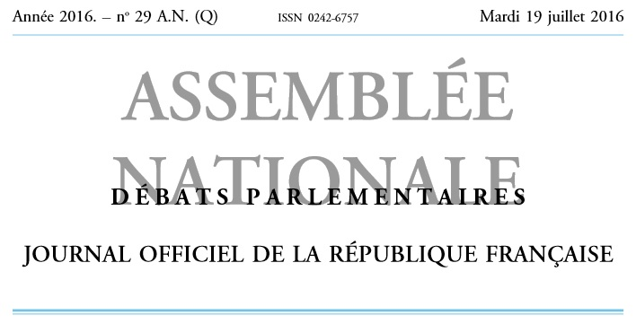 Question Assemblee nationale 19 07 2016 59d3e