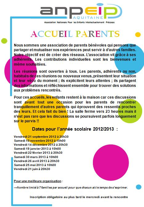 Rencontre parents bulletin