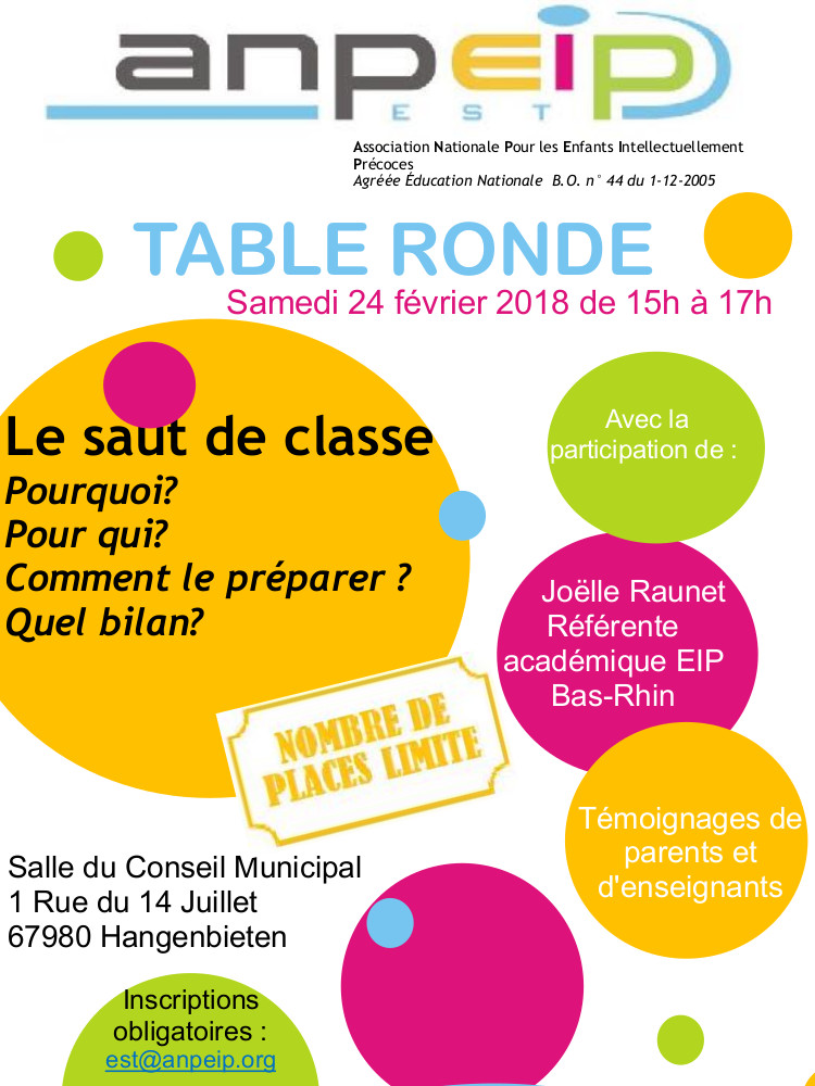 affiche table ronde 24 02 2018