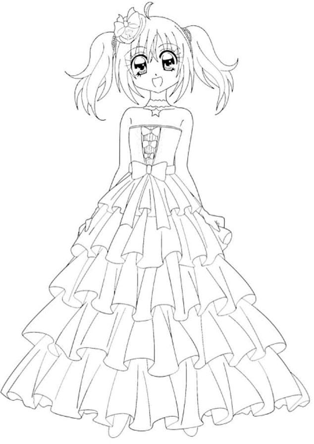 Anpeip illustrat kilari - Coloriage robe de princesse ...