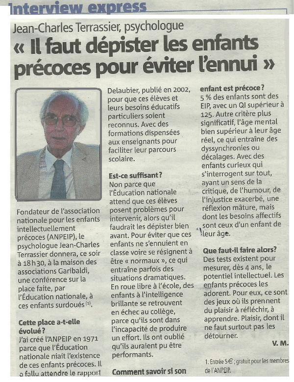 Article Nice Matin Conf JCT 23 09 2015